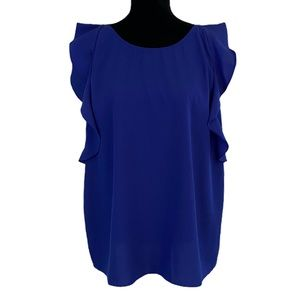 Juicy Couture Ruffle Sleeveless Blue Blouse
